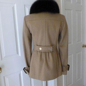 Burberry Jackets & Coats - Burberry Wool & Cashmere Fox Fur Collar Coat